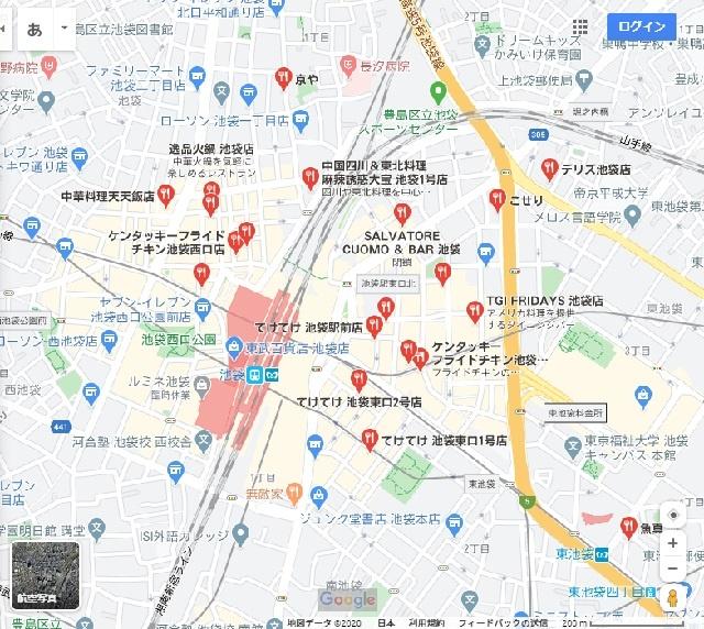 googlemap-池袋駅周辺