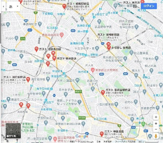 googlemap-池袋-ガスト